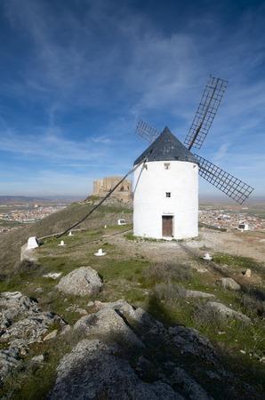 traditional windmill: traditional windmill in Consuegra, Toledo, Castilla La Mancha, spain Stock Photo
