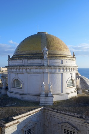 forefront of the dome of the Cathedral of Cadiz, Andalusia, Spain photo