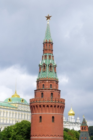 View of the Kremlin Tower in Moscow, Russia. photo