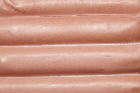 frankfurters: Closeup of a packaged frankfurters. Stock Photo