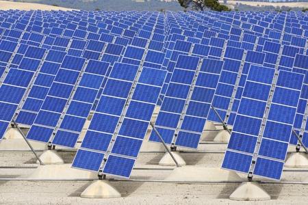 aragon: Photovoltaic panels for renewable electric production, Zaragoza province, Aragon, Spain.