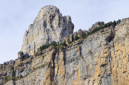 ordesa: rocky pinnacle in the walls of Ordesa national park, Pyrenees, Spain Stock Photo