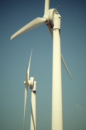 windmills for clean energy production renewable electric, Navarre, Spain photo