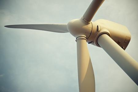 windturbine: Windmill for electric power production, Pozuelo de Aragon, Zaragoza, Aragon, Spain