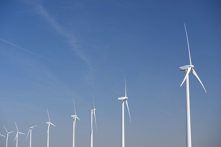 windturbines: group of windmills for renewable electric energy production
