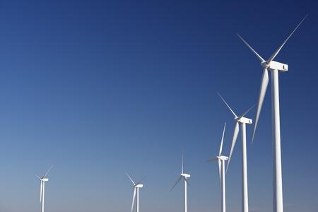 wind turbines: Windmills for renewable electric energy production, Pozuelo de Aragon, Zaragoza, Aragon, Spain