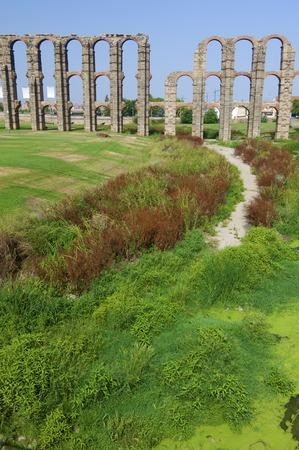 extremadura: Miracles aqueduct in Merida, Extremadura, Spain