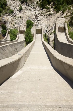 great pyrenees: dam detail in Cavallers, Pyrenees,  Spain