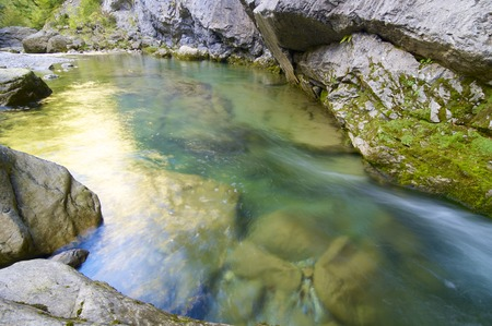 anisclo: view of a mountain river in ordesa national park (Anisclo Valley), Pyrenees, Huesca, Aragon, Spain