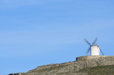 castilla la mancha: traditional windmill in Alcazar de San Juan, Ciudad Real, Castilla La Mancha, Spain Stock Photo