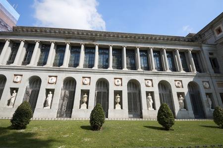 Facade in the Prado Museum, Madrid, Spain