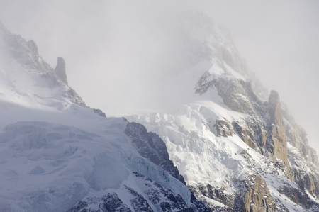 aiguille: Rocky escarpments in Mont Blanc Massif, Chamonix, Alps, France
