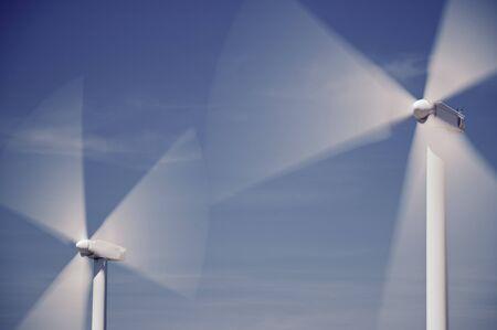 windturbine: Windmills for electric power production, Zaragoza province, Aragon, Spain Stock Photo