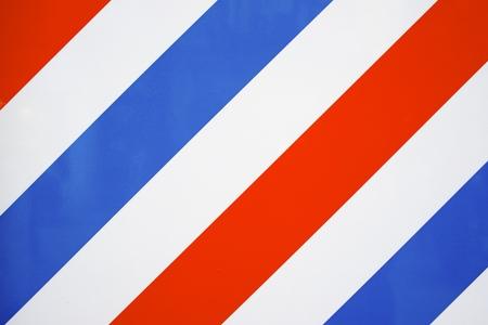 horizontal haircut:  barbershop wall.
