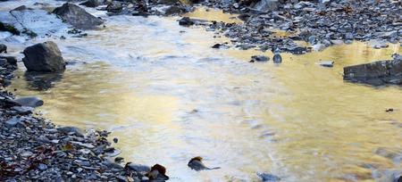 silky stream in Pyrenees, Vio Valley, Huesca, Aragon, Spain