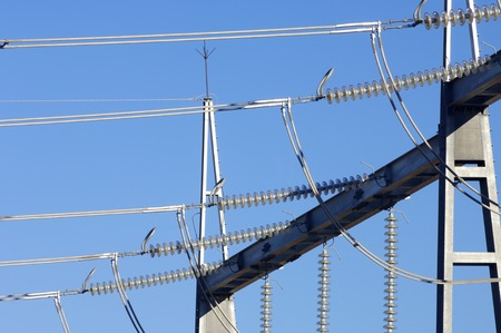 amp tower: detail of a power transformer
