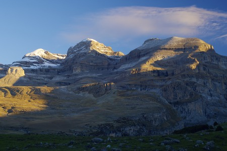 View of the massif of Monte Perdido in Ordesa National Park; Huesca, Aragon, Spain