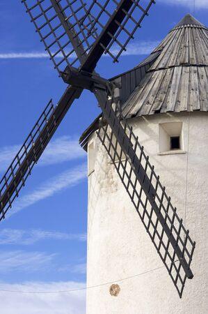 traditional windmill: traditional windmill in Malanquilla, Saragossa, Aragon, Spain