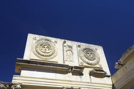Detail of Roman portico in Merida, Badajoz, Extremadura, Spain. photo