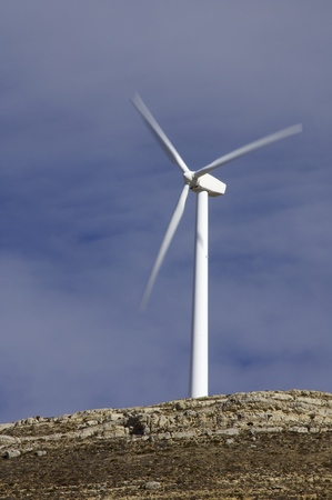 Windmill for renewable electric energy production, Teruel province, Aragon, Spain. photo