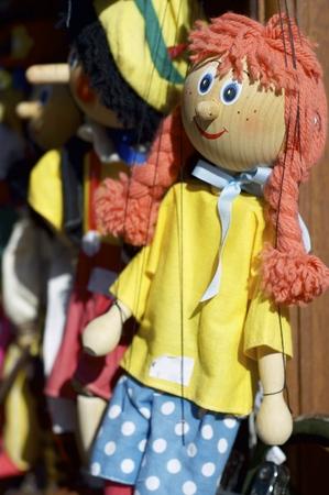 marionette: detail of a girl marionette