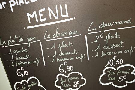 Vordergrund Eines Plakats Des Menü In Einem Typisch Spanischen ...