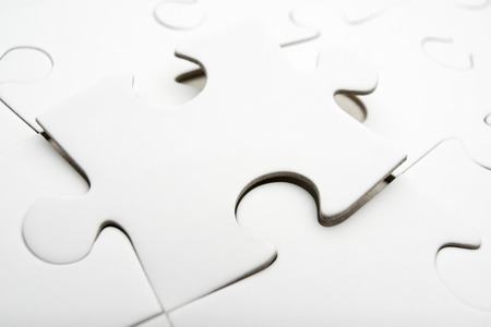 Close up of the pieces of a puzzle photo