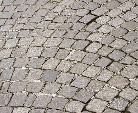 Floor of a street with stone tiles. photo