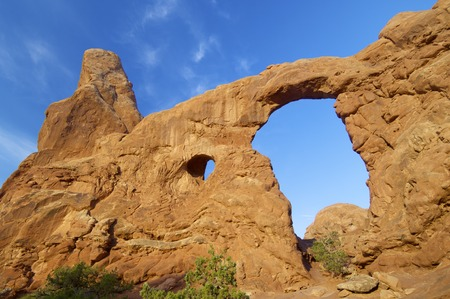 moab: Rock formations in Arches National Park, Utah, United States Stock Photo