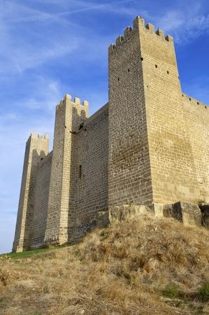 aragon: Castle in Sadaba with beauty sky in Saragossa, Aragon, Spain