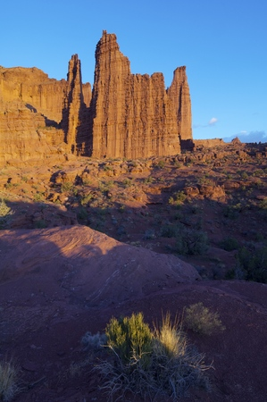 fisher: landscape of the towers in the desert area known as Fisher Tower, Utah, Usa