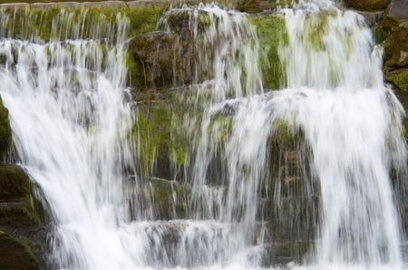 ordesa: Little waterfall in Ordesa National Park, Pyrenees, Huesca, Aragon, Spain Stock Photo