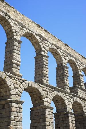 castilla leon: view of the aqueduct of Segovia, Castilla Leon, Spain Editorial