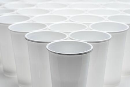 semen: Large group of disposable plastic cups.