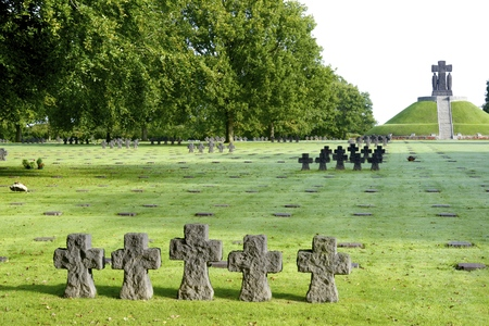 military cemetery: German Military Cemetery at La Cambe, Normandy, France.
