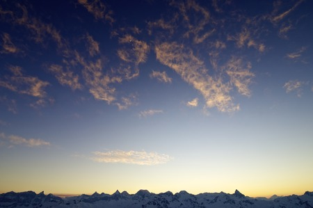 aragon: Sunset silhouette in Pyrenees, Huesca, Aragon, Spain Stock Photo