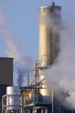 smokestack: Smokestack of a factory in Zaragoza, Aragon, Spain
