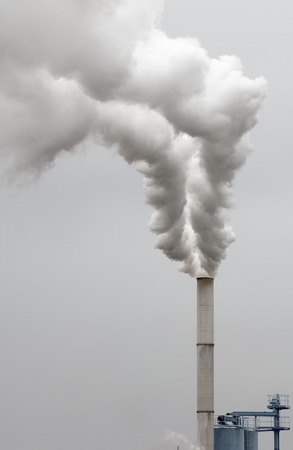smokestack: Smokestack of a factory in Zaragoza province, Aragon, Spain Stock Photo