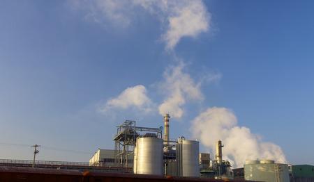 zaragoza: Smokestacks of a factory in Zaragoza Aragon Spain