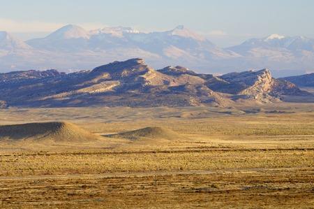 moab: Typical desertic landscape near Moab, Utah, USA.
