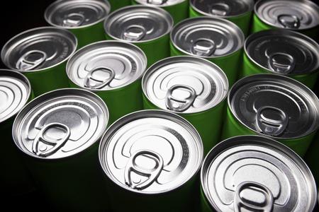 aluminium: Closeup of a group of aluminium cans.