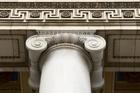 capitolio: Closeup of a column in the National Capitol in Havana, Cuba. Stock Photo