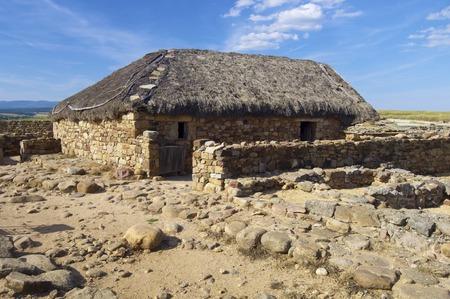 castilla leon: Archaeological remains of the ruins of Numancia, Soria, Castilla Leon, Spain Editorial