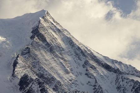 aiguille: view of Aiguille du Gouter, 3863 m., Chamonix, Alps, France