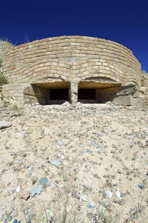 pillbox: bunker used in the Spanish Civil War, Castejon del Puente, Huesca, Aragon, Spain