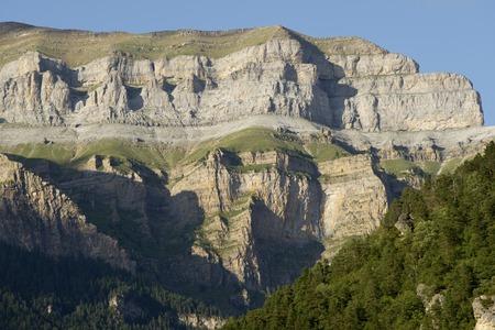 ordesa: Mountains in the Pyrenees, Ordesa Valley National Park, Aragon, Huesca, Spain.