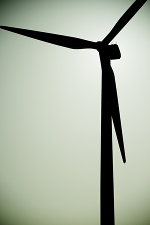 Windmill for electric power production, La Muela, Zaragoza Province, Aragon, Spain. photo
