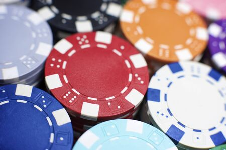 Background created with casino chips. photo