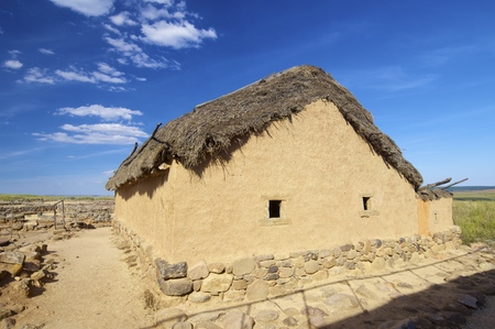 castilla leon: Archaeological remains of the ruins of Numancia, Soria, Castilla Leon, Spain Stock Photo