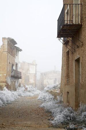 bombing: Belchite village destroyed in a bombing during the Spanish Civil War, Saragossa, Aragon, Spain.